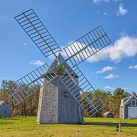 New England photography of the historic Brewster Windmill also known as Brewster Windmill off of Old King's Highway at Drummer Boy Park in Brewster on Cape Cod in Massachusetts. This smock windmill converted wind power into rotational energy..<br /> <br /> Cape Cod Brewster Windmill photography images are available as museum quality photography prints, canvas prints, acrylic prints, wood prints or metal prints. Fine art prints may be framed and matted to the individual liking and decorating needs:<br /> <br /> https://juergen-roth.pixels.com/featured/brewster-windmill-at-drummer-boy-park-juergen-roth.html<br /> <br /> Good light and happy photo making!<br /> <br /> My best,<br /> <br /> Juergen