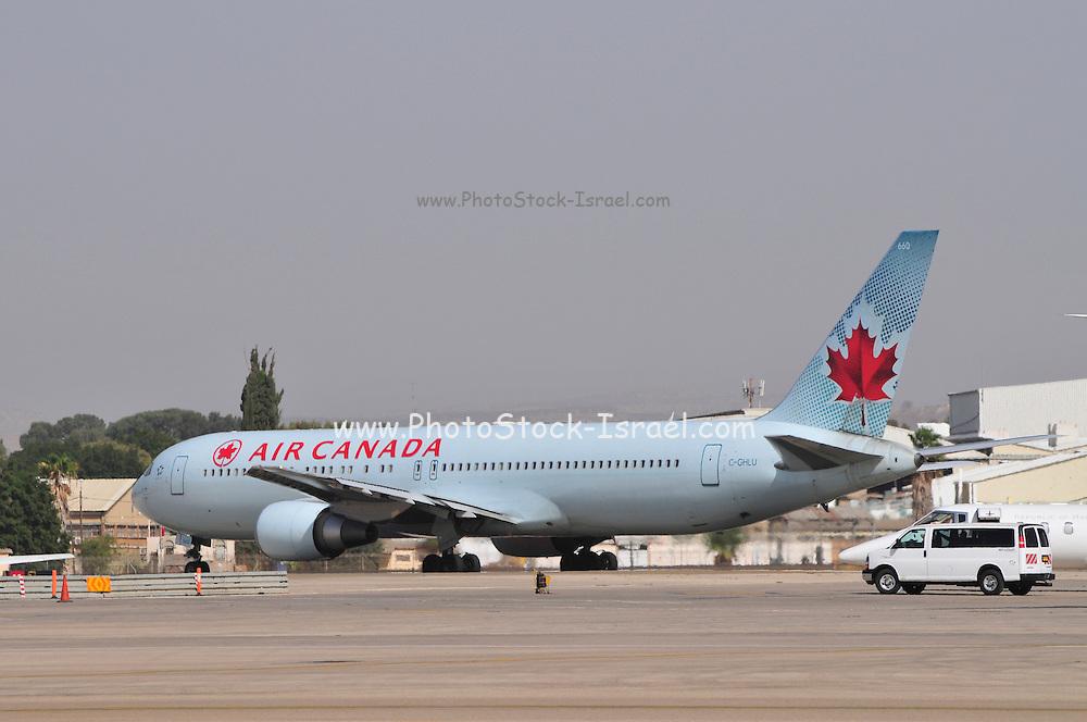 Israel, Ben-Gurion international Airport Air Canada Boeing 767-333ER,