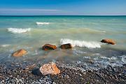 Shore of Lake Ontario<br />Presqu'ile Provincial Park<br />Ontario<br />Canada