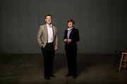 Photo of Jeff Amerine and Carol Reeves in Northwest Arkansas.<br /> Photo by Beth Hall