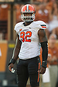 AUSTIN, TX - SEPTEMBER 26:  Jimmy Bean #92 of the Oklahoma State Cowboys takes the field against the Texas Longhorns on September 26, 2015 at Darrell K Royal-Texas Memorial Stadium in Austin, Texas.  (Photo by Cooper Neill/Getty Images) *** Local Caption *** Jimmy Bean