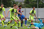 Keshi Anderson with a late effort during the U21 Professional Development League match between Crystal Palace U21s and Huddersfield U21s at Imperial Fields, Tooting, United Kingdom on 7 September 2015. Photo by Michael Hulf.