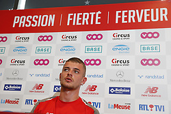 July 31, 2018 - Liege, BELGIUM - Standard's Maxime Lestienne pictured during a press conference of Belgian first division soccer team Standard de Liege to present a new player, Tuesday 31 July 2018 in Liege. The 26 year old former Red Devil Lestienne signed a four year contract, he was a free agent...BELGA PHOTO NICOLAS MAETERLINCK (Credit Image: © Nicolas Maeterlinck/Belga via ZUMA Press)