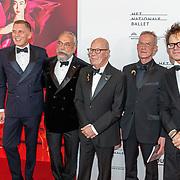NLD/Amsterdam/20180908 - inloop Gala Het Nationale Ballet 2018, Erwin Olaf, Oscar Hammersteijn, Hans van Manen en partner Henk van Dijk en .........