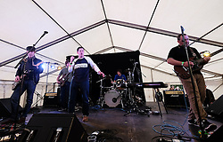 Party At The Palace, Linlithgow, Scotland, Saturday 13th August 2016<br /> <br /> The Luci Baines band perform on the Star & Garter stage<br /> <br /> (c) Alex Todd | Edinburgh Elite media