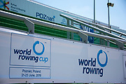 Poznan, POLAND, 20 June 2019, Thursday, General View, Boat Park, FISA World Rowing Cup II, Malta Lake Course, © Peter SPURRIER/Intersport Images,<br /> <br /> 12:42:12