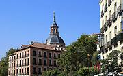 La Latina barrio, Madrid city centre, Spain dome of Real Iglesia San Andrés Apóstol church