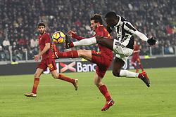 December 23, 2017 - Turin, Italy - Roma midfielder Alessandro Florenzi (24) fights for the ball against Juventus midfielder Blaise Matuidi (14) during the Serie A football match n.18 JUVENTUS - ROMA on 23/12/2017 at the Allianz Stadium in Turin, Italy. (Credit Image: © Matteo Bottanelli/NurPhoto via ZUMA Press)