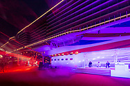 """Britain's largest and most environmentally-friendly cruise ship is named in a record-breaking virtual ceremony.<br /> <br /> Gary Barlow plays a concert beside P&O Cruises Iona.<br /> <br /> Britain's largest and most environmentally-friendly cruise ship, P&O Cruises Iona, has been officially named in a very contemporary ceremony with a record-breaking virtual audience.<br /> <br /> Iona, powered by liquefied natural gas, ground-breaking for the UK cruise industry and one of the cleanest fuels in the world, arrived for the first time into her home port of Southampton this morning ahead of tonight's official naming ceremony.<br /> <br /> The ship was officially named tonight by Dame Irene Hays, chair of Hays Travel, Britain's largest independent travel agency, in a glittering quayside ceremony by the bow of the ship. <br /> <br /> The event, held at sunset, was hosted by Jo Whiley and broadcast to a """"virtual"""" audience of over 25,000 guests. The highlight of the show was a rousing set from Iona's music director Gary Barlow performing two iconic Take That hits """"Greatest Day and """"Rule the World"""" against the backdrop of a spectacular laser show.<br /> <br /> A specially produced Nebuchadnezzar (equivalent to 20x 750ml bottles) of Alex James's Britpop cider smashed against the hull of the ship in spectacular style to bring it good fortune in the future.  <br /> There was also a special performance by The Commonwealth Youth Orchestra and Choir and Mica Paris singing Believe, a song which was composed by Simon Haw MBE and was dedicated to Her Majesty The Queen, head of the Commonwealth, for its 70th anniversary in 2019.<br /> <br /> Picture date Sunday 16th May, 2021.<br /> Picture by Christopher Ison. Contact +447544 044177 chris@christopherison.com<br /> <br /> For further press information please contact: <br /> Michele Andjel, michele.andjel@carnivalukgroup.com 023 8065 6653 / 07730 732 072<br /> Laura Tattam, laura.tattam@pocruises.com 02380 656651 / 07771 283 845<br /"""