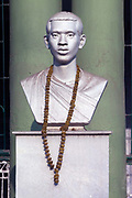 A statue commemorating Kanailal Dutta, an Indian revolutionary born in Chandannagar. Chandannagar, India