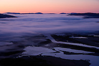 Dawn over Laitaure delta, Sarek National Park, Laponia World Heritage Site, Sweden