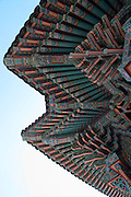 Songgwangsa temple. Roof paintings.