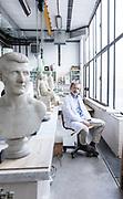 Rome, Vatican Museums, the sculpture Workshop,  the director Guy Devreux