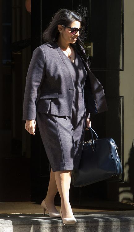 Downing Street, London, April 25th 2017. International Development Secretary Priti Patel leaves the weekly cabinet meeting at 10 Downing Street in London. Credit: ©Paul Davey