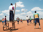 Volleyball match at Iloileri School near Amboseli National Park, Rift Valley Province, Kenya