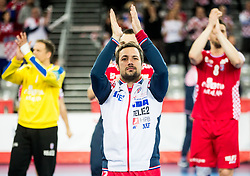 Zlatko Horvat of Croatia after the handball match between National teams of Croatia and France on Day 7 in Main Round of Men's EHF EURO 2018, on January 24, 2018 in Arena Zagreb, Zagreb, Croatia.  Photo by Vid Ponikvar / Sportida