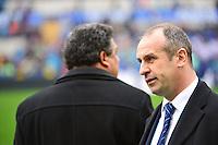 Serge BLANCO / Philippe SAINT ANDRE - 15.03.2015 - Rugby - Italie / France - Tournoi des VI Nations -Rome<br /> Photo : David Winter / Icon Sport