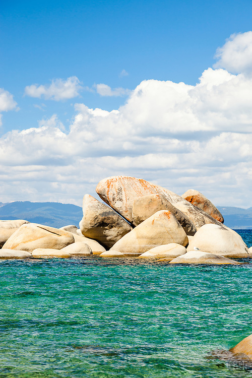 """""""Whale Rock, Lake Tahoe 1"""" - Photograph of the famous Whale Rock on the East Shore of Lake Tahoe."""