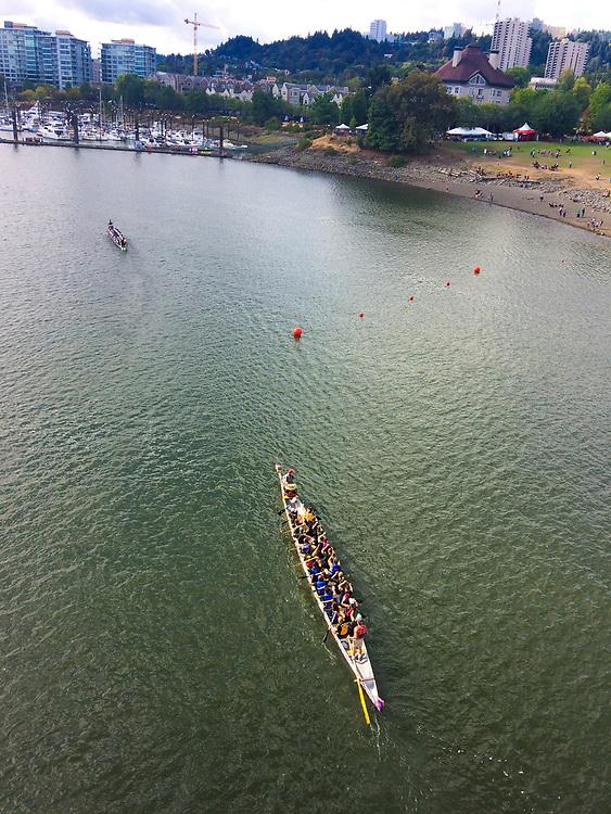 Portland Dragon Boat Festival on the Willamette River in downtown Portland Oregon