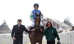 Lizzie Kelly celebrates winning the Ultima Handicap Chase onboard Coo Star Sivola during Champion Day of the 2018 Cheltenham Festival at Cheltenham Racecourse