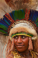 Woman from Eastern Highlands Province, Bena District..Goroka, Eastern Highlands Province, Papua New Guinea.