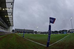 An Allianz Premier 15\s corner flag - Mandatory by-line: Nick Browning/JMP - 24/10/2020 - RUGBY - Sixways Stadium - Worcester, England - Worcester Warriors Women v Wasps FC Ladies - Allianz Premier 15s
