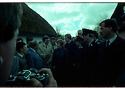 Raisa Gorbachev at Bunratty Folk Park.  (R99)..1989..02.04.1989..04.02.1989..2nd April 1989..While her husband, Russian President Mikhail Gorbachev,was working on state matters ,Mrs Gorbachev was taken on a tour of Bunratty Folk Park in Co Clare. The Gorbachevs were in Ireland as part of a tour of European Capitals...Picture shows Mrs Gorbachev being given an explanation of the Folk Park as she is about to begin the tour.