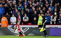 Sheffield United's John Lundstram celebrates scoring his side's second goal <br /> <br /> Photographer Rich Linley/CameraSport<br /> <br /> The Premier League - Sheffield United v Burnley - Saturday 2nd November 2019 - Bramall Lane - Sheffield<br /> <br /> World Copyright © 2019 CameraSport. All rights reserved. 43 Linden Ave. Countesthorpe. Leicester. England. LE8 5PG - Tel: +44 (0) 116 277 4147 - admin@camerasport.com - www.camerasport.com