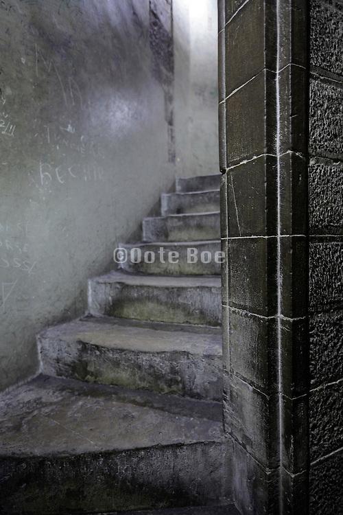 stairs corridor inside medieval tower