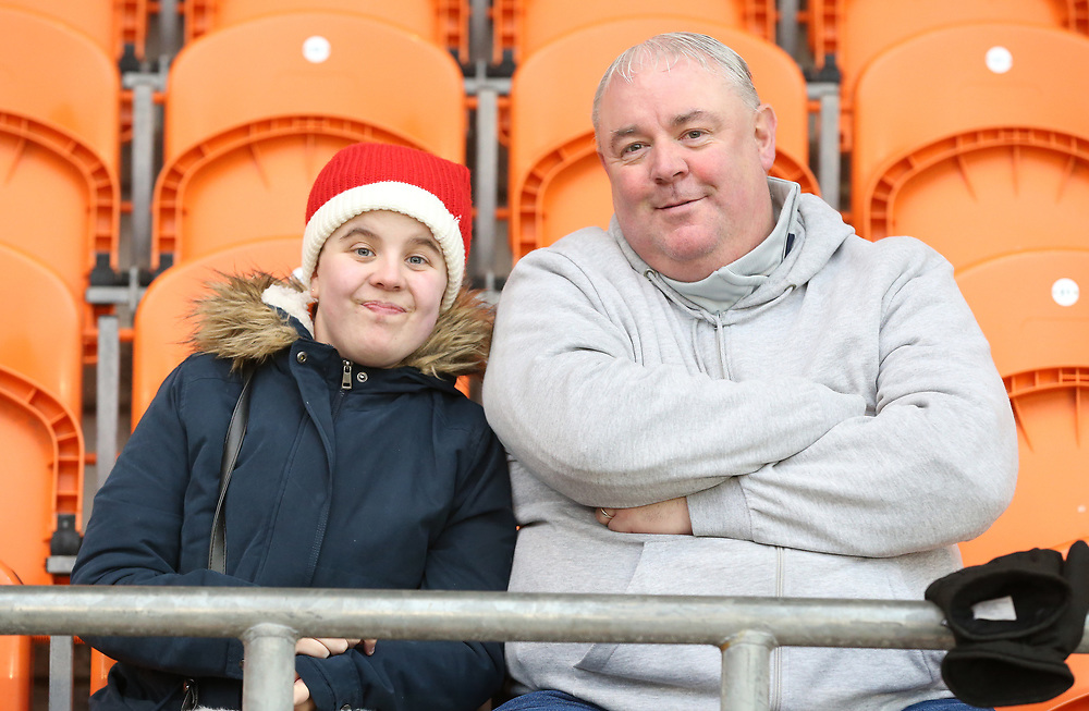 Blackpool fans look forward to th<br /> <br /> Photographer Stephen White/CameraSport<br /> <br /> The EFL Sky Bet League One - Blackpool v Charlton Athletic - Saturday 8th December 2018 - Bloomfield Road - Blackpool<br /> <br /> World Copyright © 2018 CameraSport. All rights reserved. 43 Linden Ave. Countesthorpe. Leicester. England. LE8 5PG - Tel: +44 (0) 116 277 4147 - admin@camerasport.com - www.camerasport.com