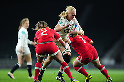 Tamara Taylor of England takes on the Canada defence - Mandatory byline: Patrick Khachfe/JMP - 07966 386802 - 26/11/2016 - RUGBY UNION - Twickenham Stadium - London, England - England Women v Canada Women - Old Mutual Wealth Series.