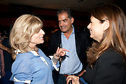 RACHEL JOHNSON; PHILIP KERR; ALEX SHULMAN, Book party for Janine di Giovanni's Ghosts by Daylight. Blake's Hotel. South Kensington. London. 12 July 2011. <br /> <br />  , -DO NOT ARCHIVE-© Copyright Photograph by Dafydd Jones. 248 Clapham Rd. London SW9 0PZ. Tel 0207 820 0771. www.dafjones.com.