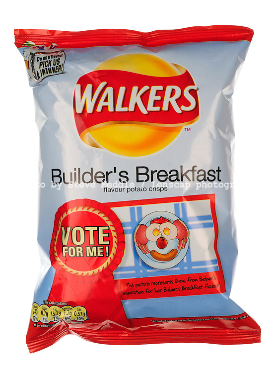 The Winner of Walkers 'Vote for a Flavour' Competition, Builder's Breakfast Flavour Packet of Walkers Crisps