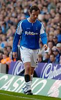 Photo: Glyn Thomas.<br />Birmingham City v Aston Villa. The Barclays Premiership.<br />16/10/2005.<br /> Birmingham's Stephen Clemence leaves the field after sustaining a leg injury.