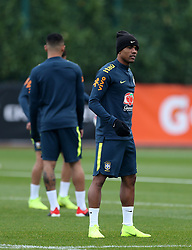 Brazil's Douglas Costa during the training session at London Colney, Hertfordshire.
