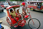 Children on rickshaw, Manila, Philippines