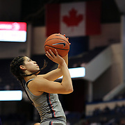 HARTFORD, CONNECTICUT- JANUARY 4: Kia Nurse #11 of the Connecticut Huskies drives to the basket past Alexandra Frazier #1 of the East Carolina Lady Pirates during the UConn Huskies Vs East Carolina Pirates, NCAA Women's Basketball game on January 4th, 2017 at the XL Center, Hartford, Connecticut. (Photo by Tim Clayton/Corbis via Getty Images)