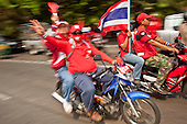 Red Shirts Protest at Army Barracks