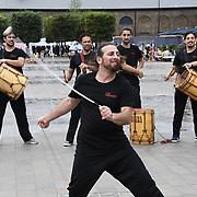 Che Malambo hit the Granary Square, London, UK