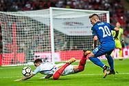 (2) Kyle Walker, Slovakia (20) Robert MAK during the FIFA World Cup Qualifier match between England and Slovakia at Wembley Stadium, London, England on 4 September 2017. Photo by Sebastian Frej.