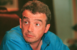 UK ENGLAND LONDON 26JUL00 - Ryanair CEO Michael O'Leary (39) during an interview at the Thistle Hotel Victoria, central London. The Irishman from Cork heads the largest European low-cost airline and declares that his company is the only profitable cheap flights operation in the UK...jre/Photo by Jiri Rezac..© Jiri Rezac 2000..Tel:     +44 (0) 7050 110 417.Email:  info@jirirezac.com.Web:   www.jirirezac.com