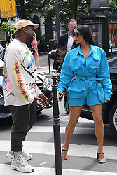 Kim Kardashian and Kanye West arrive at the Avenue Restaurant in Paris, France on June 21th, 2018. Photo by ABACAPRESS.COM