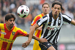 17.10.2010, Stadio Olimpico, Turin, ITA, Serie A, Juventus Turin vs US Lecce, im Bild Amauri (Juventus) e Carlos Grossmuller (Lecce).EXPA Pictures © 2010, PhotoCredit: EXPA/ InsideFoto/ Giorgio Perottino +++++ ATTENTION - FOR AUSTRIA AND SLOVENIA CLIENT ONLY +++++..