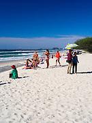 Morning on the beach, Pratten Park, Broadbeach, Gold Coast, Queensland, Australia