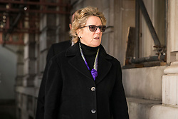 © Licensed to London News Pictures. 10/03/2018. London, UK. Professor Dame Sally Davies, Chief Medical Officer (CMO) for England and Chief Medical Advisor to the UK government, arrives at the Cabinet Office for an emergency Cobra meeting to discuss the suspected nerve agent attack on former Russian double agent Sergei Skripal, 66, and his daughter Yulia, 33, in Salisbury. Photo credit: Rob Pinney/LNP
