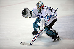 Goalkeeper Alex Westlund of Linz at ice hockey match EHC Liwest BW Linz of Austria vs HC DR Briancon of France during Summer league R. Hiti,  on August 29, 2008 in Arena Bled, Bled, Slovenia.  (Photo by Vid Ponikvar / Sportal Images)