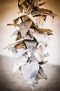 Origami in the Manzanar Cemetery, Manzanar National Historic Site, Lone Pine, California USA