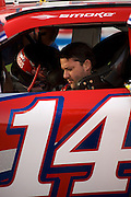 Tony Stewart at qualifying for the Shelby 427, 2009 NASCAR race at the Las Vegas Motor Speedway, Las Vegas, Nevada.