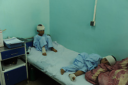 Children wounded in Taliban military attack stay in hospital in Farah province of Afghanistan on April 3, 2013. Massive suicide bombing against government interests in Farah province, 695 km west of Afghan capital Kabul on Wednesday have left at least 53 including two attackers dead and injured more than 100 others, mostly civilians, April 3, 2013.. Photo by Imago / i-Images...UK ONLY..