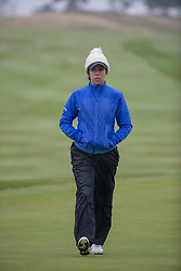 Great Britain's Georgia Hall makes her way to the 15th green during her Semi Final match with Sweden this morning during day eleven of the 2018 European Championships at Gleneagles PGA Centenary Course.
